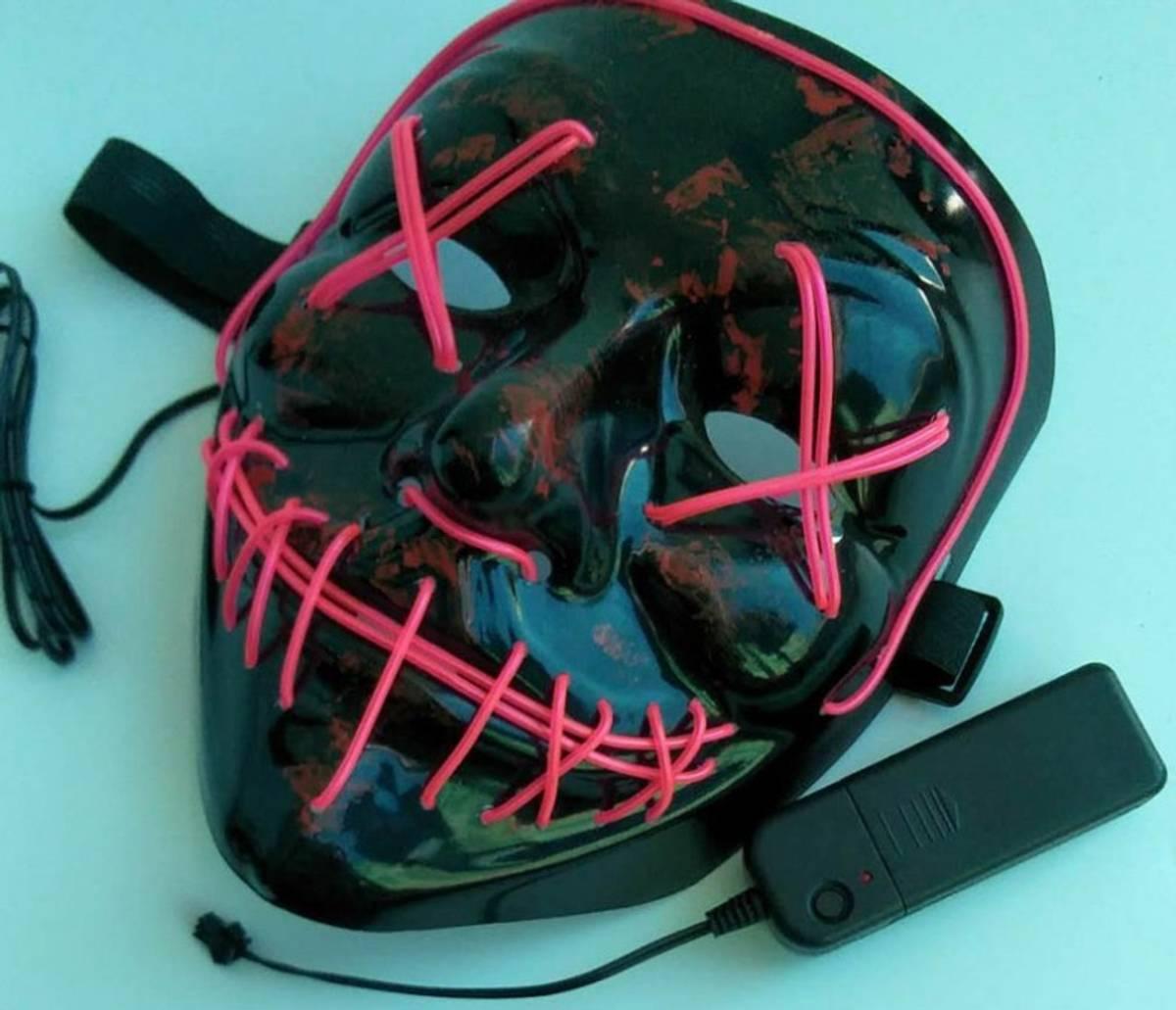 LED-maske Halloween rød