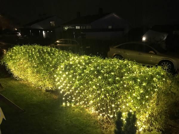 Bilde av 3X2M Lysnett IP44 m/gummikabel og 432 LED-pærer